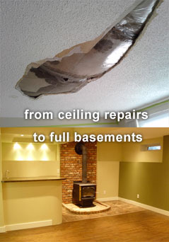 Ceiling repairs to full basements